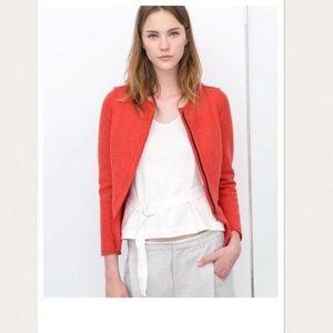 Zara coral peplum blazer jacket, size medium